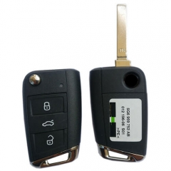 2012 VW Golf 7 MQB Flip Remote Key 434 Mhz 3 Buttons without Proximity -5G6959752AG
