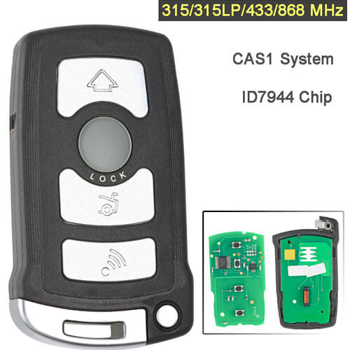 BMW CAS1 Smart Remote Key 315/ 315LP/ 434/ 868 MHz 4 Button Fob for 7 Series E65 E66