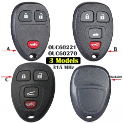 Chevrole*t GMC Keyless Entry Remote Control 315MHz -OUC60270 / OUC60221