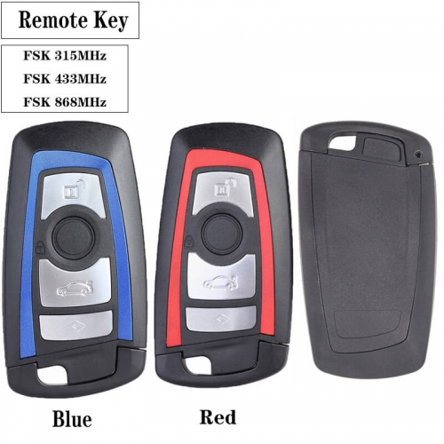 4 Button Remote Key FSK 315 / 433 / 868MHz PCF7953 for BM*W F Chassis FEM / BDC CAS4 CAS4+