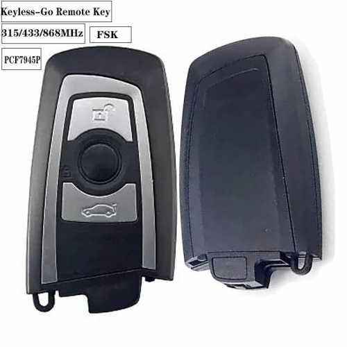 (After Market) 3button FSK 315/433/868MHz Keyless-Go Remote PCF7945P For BM*W CAS4 F 7series