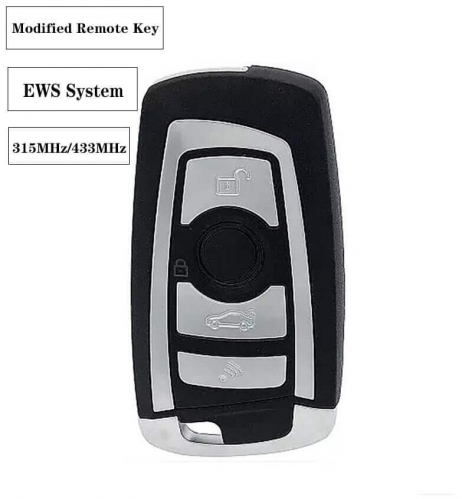 4button 433MHz/315MHz Modified Folding Remote Key (Compatible EWS System) For BM*W