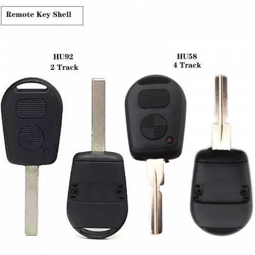 Remote Key Shell 2 Buttons For BM*W