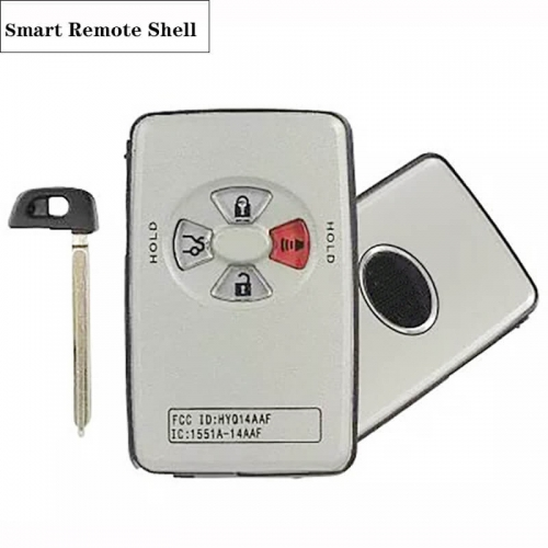 3+1 Button Smart Remote Shell For Toyot*a Carola