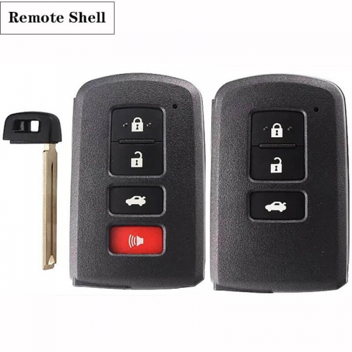 3/3+1 Button Remote Shell TOY12 For Toyot*a
