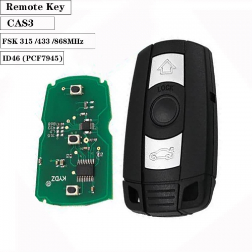 Car Remote Key ID46 Chip FSK 315MHz / 433MHz / 868MHz for BM*W CAS3 System 1/3/5/7 Series X5 X6 Z4