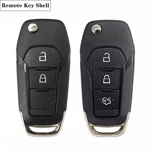 2/3 button Folding Remote Shell HU101 Blade For Ford