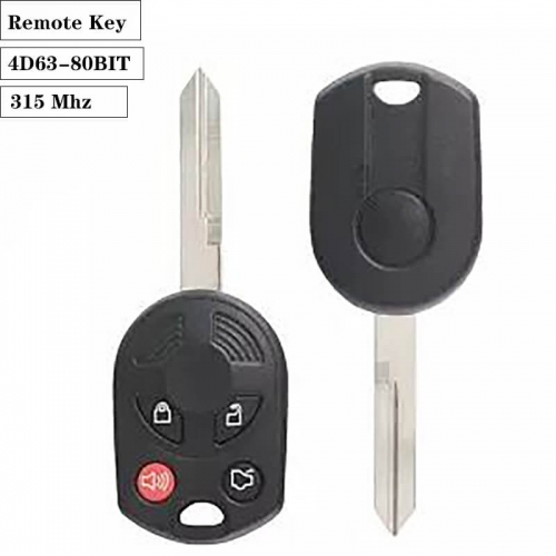 Remote Key 4D63-80BIT 4 Button 315 Mhz For Ford
