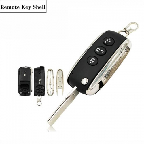 3 Buttons Modified Folding Flip Remote Key Shell For Bent*ley
