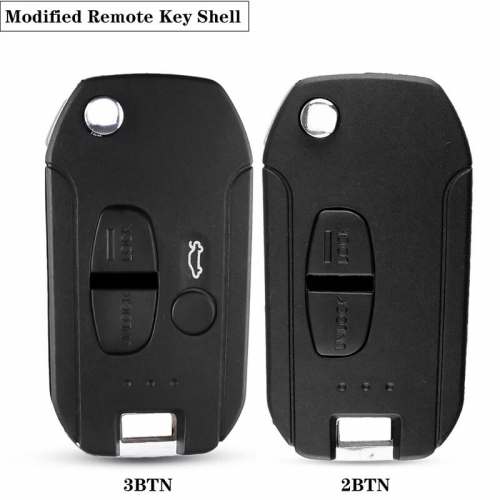 2/3 BTN Modified Flip Folding Remote Key Shell for Mitsubish*i New ASX GRANDIS Outlander LANCER-EX Right/Left Blade
