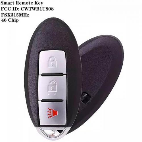 2+1 Button FSK315MHz Smart Remote Key 46 Chip FCC ID: CWTWB1U808 NSN14 Blade For Nissa*n CUBE JUKE QUEST LEAF VERSA NOTE 2011-2017