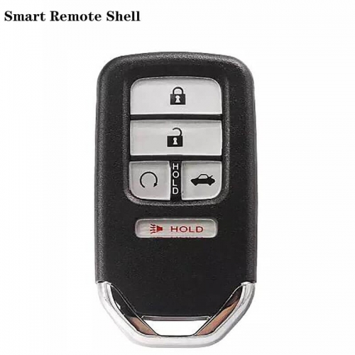 4+1button Smart Remote Shell HON66 With Startup And Trunk Button For Hond*a