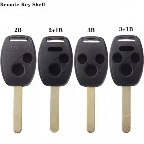 2/2+1/3/3+1BTN Explosion-Proof Remote Key Shell HON66 Easy-Cut White Copper 2-in-1 Detachable Chip Slot ,back Cover With Point Anti-Slip For Hond*a