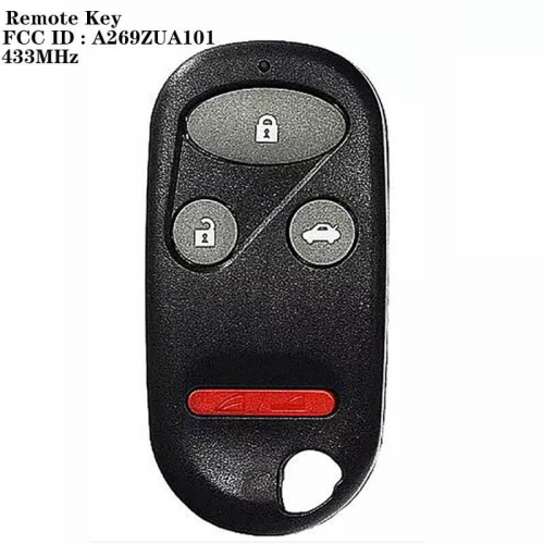 3+1buton Remote Key 433MHz FCCID : A269ZUA101 For Hond*a CR-V 1997 1998 1999 2000 2001