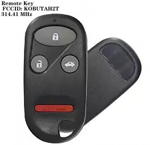 3+1Button Remote Key 314.4MHz FCCID : KOBUTAH2T 314.41 MHz For Hond*a