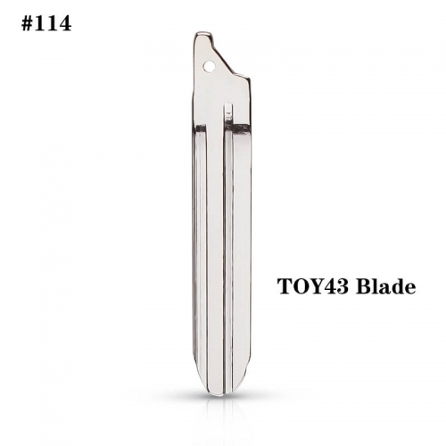 #114 Uncut Key Blade TOY43 Blade For Modified 2014 Toyot*a