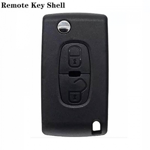 2button Folding Remote Shell MIT11R For Peugeo*t 4008