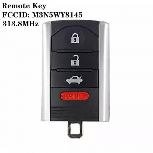 Remote Key 313.8mhz FCCID: M3N5WY8145 3+1 Buttons For Acur*a