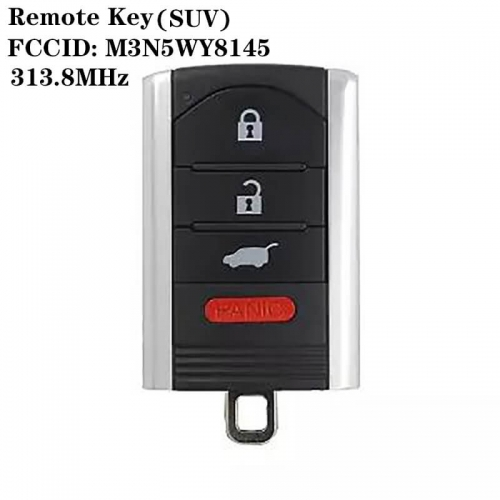 3+1 Buttons Remote Key 313.8mhz FCCID: M3N5WY8145 For Acur*a (SUV)