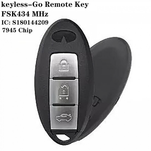 Keyless-Go Remote Key FSK434 MHz 7945 Chip 3 Button For Infinit*i IC:S180144209