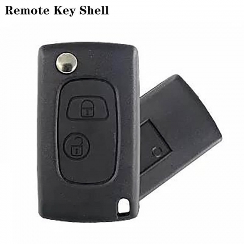 Folding Flip Remote Key Shell 2 Button NE78 For Peogueo*t 406