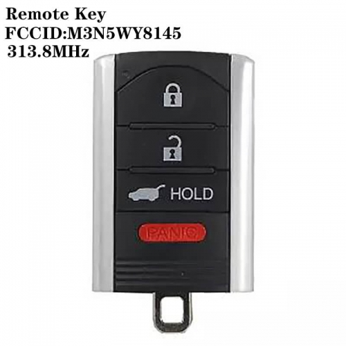3+1 Buttons Remote Key 313.8mhz FCCID:M3N5WY8145 For Acur*a
