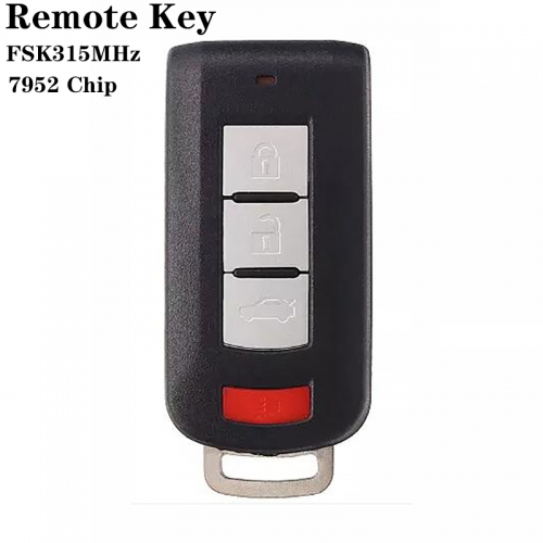 3+1button Remote Key FSK315MHz 7952 Chip For Mitsubish*i Outlander