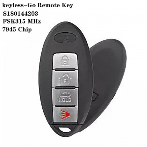 keyless-Go Remote Key FSK315 MHz 7945 Chip 3+1 Button For Infinit*i IC: S180144203