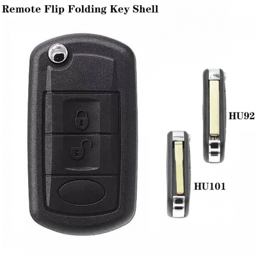 3Button Folding Remote Key Shell HU92/HU101 Blade For Discovery Land Rove*r