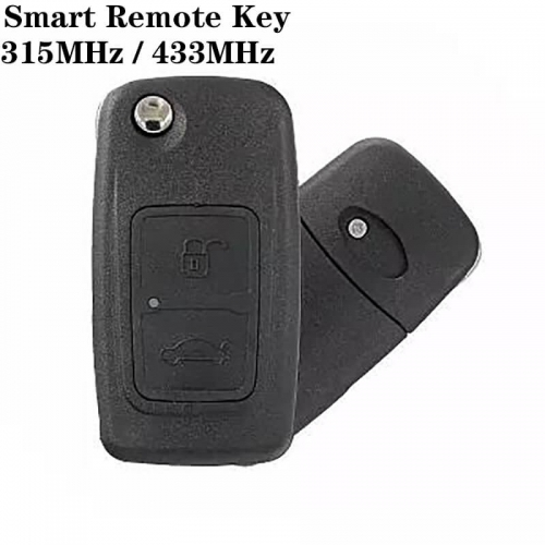 2 Button 315MHz / 433MHz Folding Smart Remote Key For CHERY