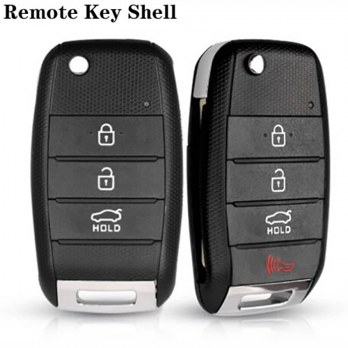 3/4 Button Flip Folding Remote Key Shell for KIA K2 K3 K5 Carens Cerato Forte K2 K3 K5