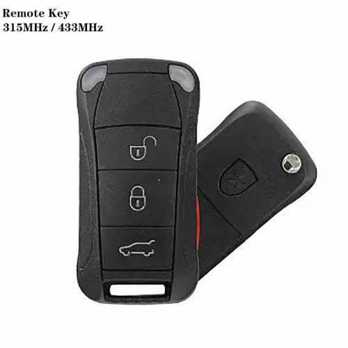3+1 Button Remote Control Key 315MHz / 433MHZ For Posrch*e Cayenne Year 2004-2010