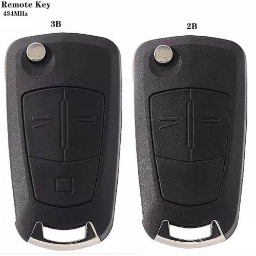 Folding Remote Key 315/MHz / 434MHz 2Buttons For Ope*l Antara