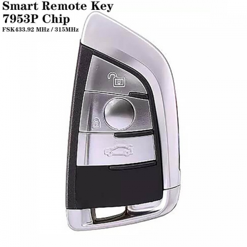 3 Button FEM Type Smart Remote Key FSK433.92 MHz / 315MHz (Universal FEM / CAS4 / CAS4 Plus) 7953P Chip For BM*W