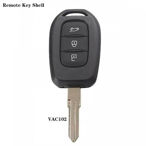 3 Button Remote Key Shell VAC102 For Renaul*t
