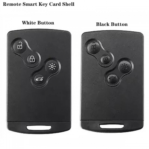4 Button Smart Card Shell White/Black Button Case Buckle Removable NSN19 For Renaul*t Koreo