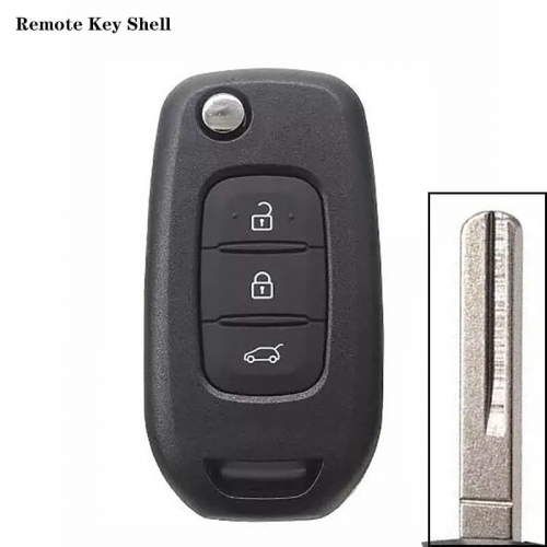 3 Button Remote Key Shell For Renaul*t