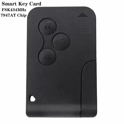 3buttons Smart Key Card FSK434MHz VA6 Blade 7947AT Chip For Renaul*t Megan