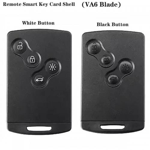4 Button Smart Card Shell White/Black Button Case Buckle Removable VA6 For Renaul*t Koreo