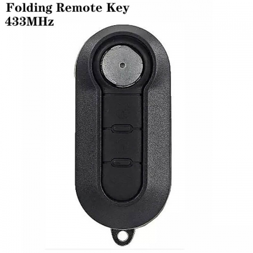 3Button Folding Remote Key 433MHz SIP22 For FIAT