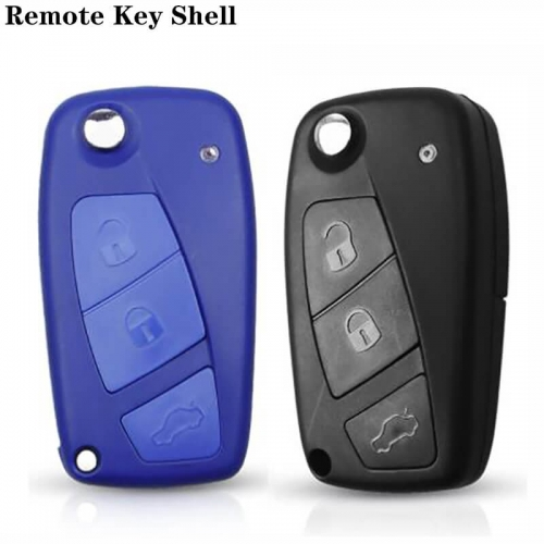 Flip Folding Remote Key Shell 3Buttons For Fiat 500 Key Shell Panda Stilo Ducato Punto
