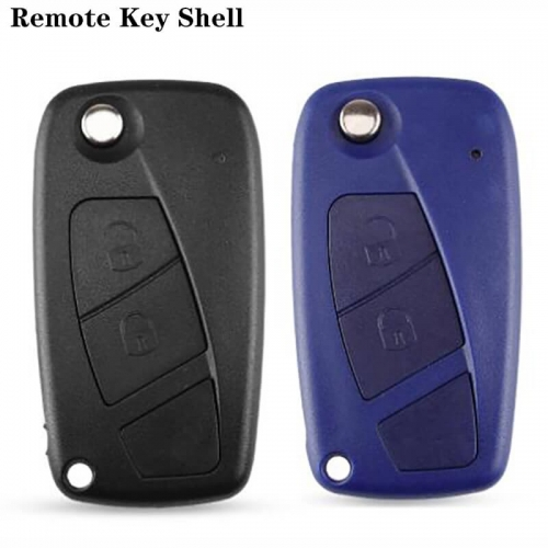 Flip Folding Remote Key Shell 2 Buttons For FIAT Iveco Punto Ducato Stilo Panda Idea Doblo Bravo