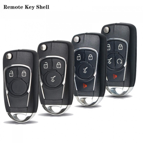 Modified Flip Remote Key Shell 2/3/4/5 Buttons For Chevrole*t Cruze Epica Lova Camaro Impala