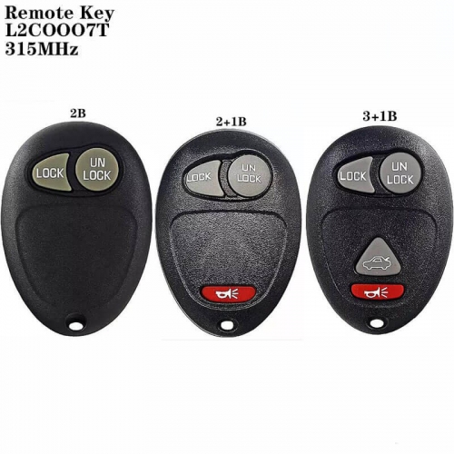 2/2+1/3+1Button Remote Key 315MHz L2COOO7T For Buick Regal