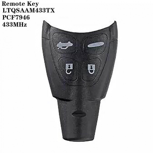 4Button Remote Key 433MHz PCF7946-LTQSAAM433TX For SAAB